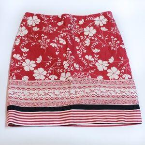 Ann Taylor Loft Midi Skirt Sz 6